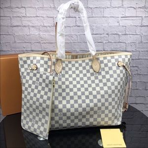 Louis Vuitton neverfull azur tote bag